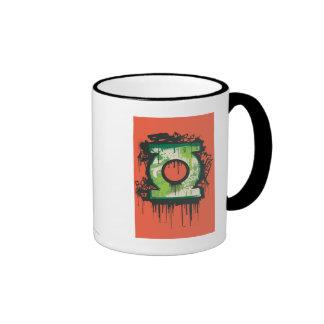 Green Lantern - Twisted Innocence Symbol Ringer Coffee Mug