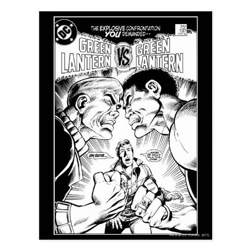 Green Lantern vs Green Lantern, Black and White Postcards