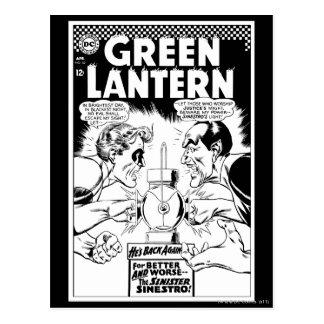 Green Lantern vs Sinestro, Black and White Post Card