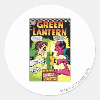 Green Lantern vs Sinestro Round Sticker