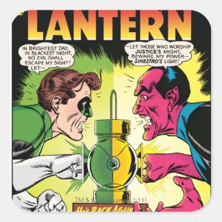 Green Lantern vs Sinestro Square Sticker
