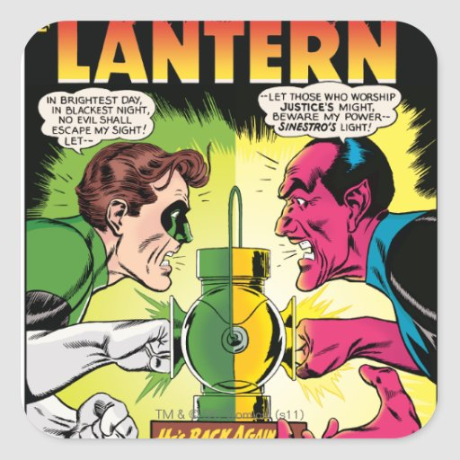 Green Lantern vs Sinestro Sticker