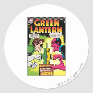 Green Lantern vs Sinestro Classic Round Sticker