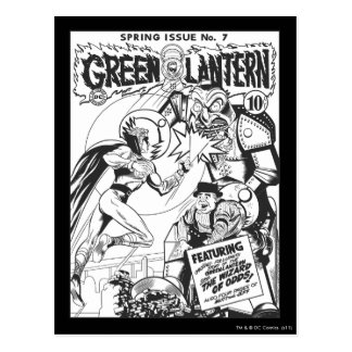 Green Lantern vs The Wizard of Odds, Black and Whi Postcard