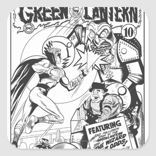 Green Lantern vs The Wizard of Odds, Black Square Stickers