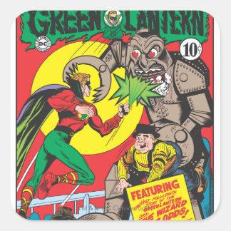 Green Lantern vs The Wizard of Odds Square Sticker