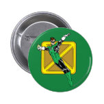 Green Lantern  with Background Buttons