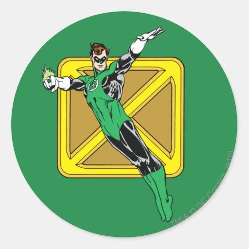 Green Lantern  with Background Sticker