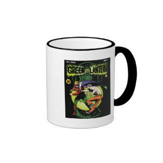 Green Lantern with cape in fight Coffee Mug