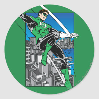 Green Lantern with City Background Stickers