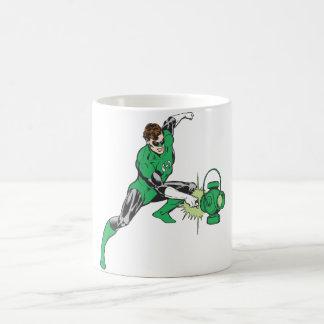 Green Lantern with Lantern 2 Coffee Mug