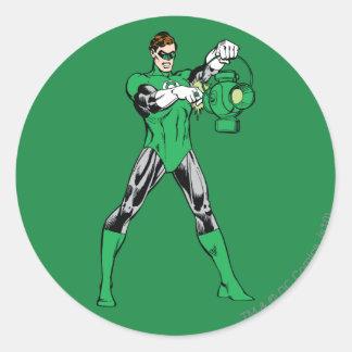 Green Lantern with Lantern Round Sticker