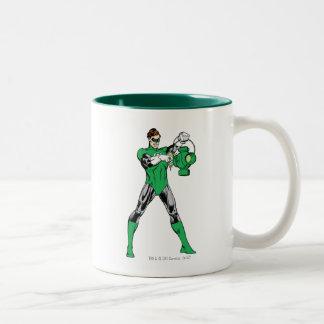 Green Lantern with Lantern Two-Tone Coffee Mug