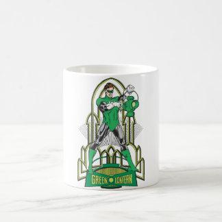 Green Lantern with Letters Basic White Mug