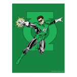 Green Lantern with Logo Background Post Cards