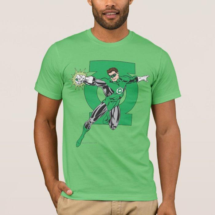 Green Lantern with Logo Background T-Shirt
