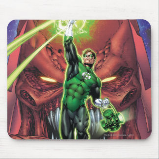 Green Lantern with stream of light - Color Mouse Pad