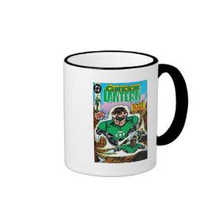 Green Lanterns Flying Ringer Coffee Mug