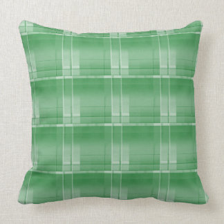 "Green Large Plaid Throw Pillow 20"" x 20"""