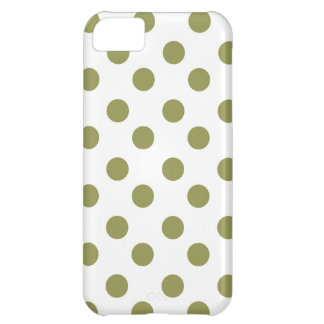 Green Large Polk-a-dots iPhone 5C Cases