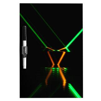green laser beam reflection dry erase whiteboards