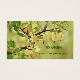 Green Lawn Care and Gardening Business Card
