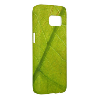Green Leaf Abstract Nature Photography Samsung Galaxy S7 Case