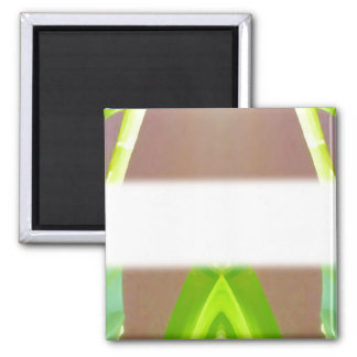 Green Leaf Abstract. Square Magnet