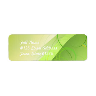 Green Leaf Background Mailing Labels