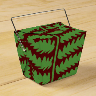 Green Leaf Brown Take Out Favor Box