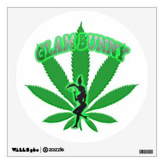 Green Leaf Bunny GB Logo wall Decal