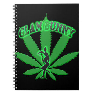 Green Leaf Bunny Logo Notebook
