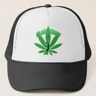Green Leaf Bunny Logo Trucker Hat