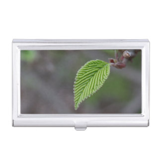 Green Leaf Business Card Holder