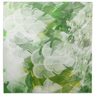Green Leaf Cloth Napkins set