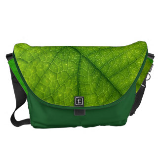 Green leaf commuter bag
