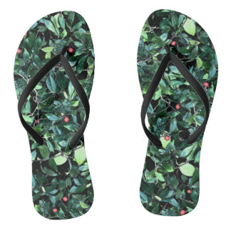 Green Leaf Custom Flip Flops