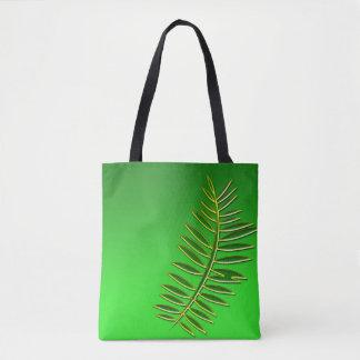 Green Leaf Fern Tote Bag