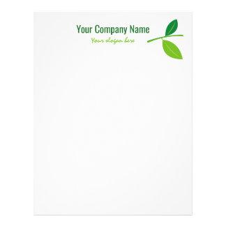 Green leaf gardener company logo custom letterhead