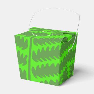 Green Leaf Green Take Out Favor Box