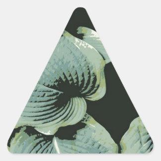 Green Leaf Hosta Triangle Sticker