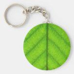 Green Leaf Keychain
