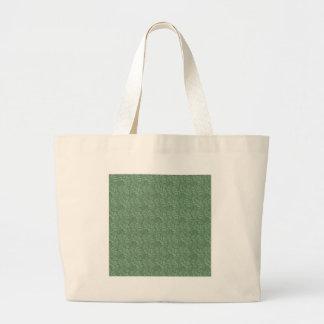 Green Leaf Motif Large Tote Bag