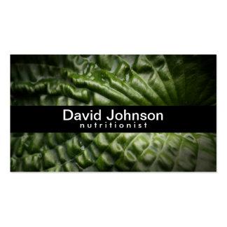 Green Leaf Nutritionist Business Card
