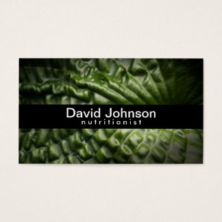 Green Leaf Nutritionist Business Card