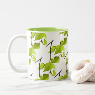 Green leaf Office Home Personalize Destiny'S Two-Tone Coffee Mug