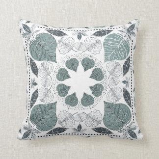 Green Leaf Pattern Designer Pilow Throw Pillow