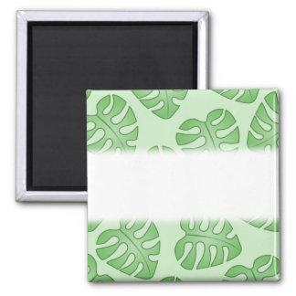 Green Leaf Pattern Monstera Leaves Refrigerator Magnet