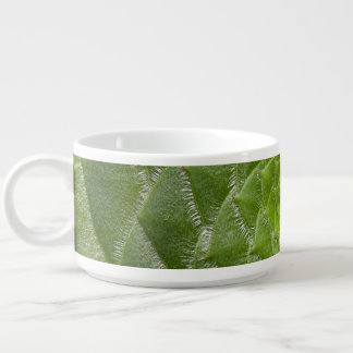 green leaf pattern spiral design bowl