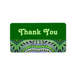 green leaf pattern thank you